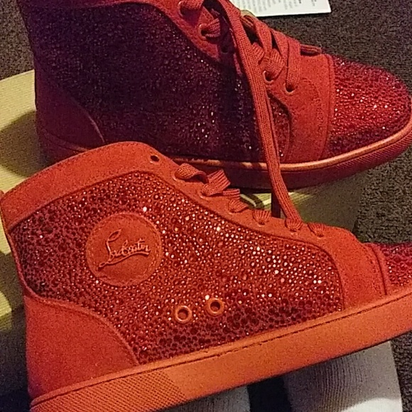 Red Louis Jeweled Diamond Sneaker